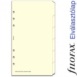 Filofax Elválasztó lap, Bianco, 6 regiszter Personal Krém