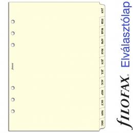 Filofax Elválasztó lap, Január - December A5 Krém
