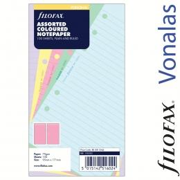 Filofax Jegyzetlapok, Personal vegyes színek nagy csomag