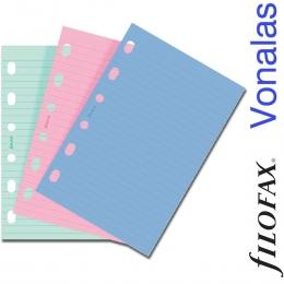 Filofax Jegyzetlapok, Vonalas, Pocket háromféle színben
