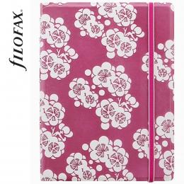 Filofax Notebook Impressions A5 Pink-fehér