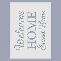 Home, sweet home stencil