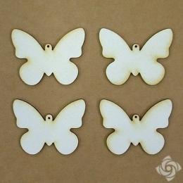 Pillangó chipboard karton díszítőelem