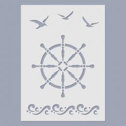 Hajókormány stencil