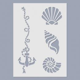 Kagylók stencil