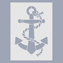 Horgony stencil