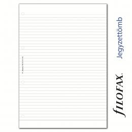 Vonalas A4 méretű, perforált fehér jegyzettömb, Filofax