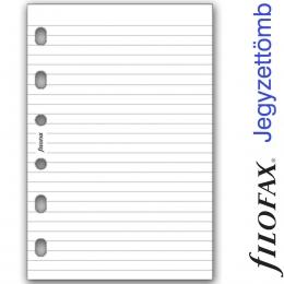 Vonalas Pocket méretű, fehér jegyzettömb, Filofax