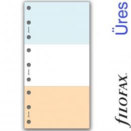 Üres, letéphető, lyukasztott, színes jegyzettömb, Filofax