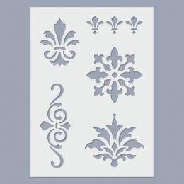 Brokátmotívum stencil