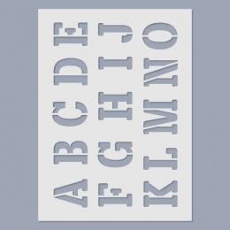 ABC stencil (nagybetűk)