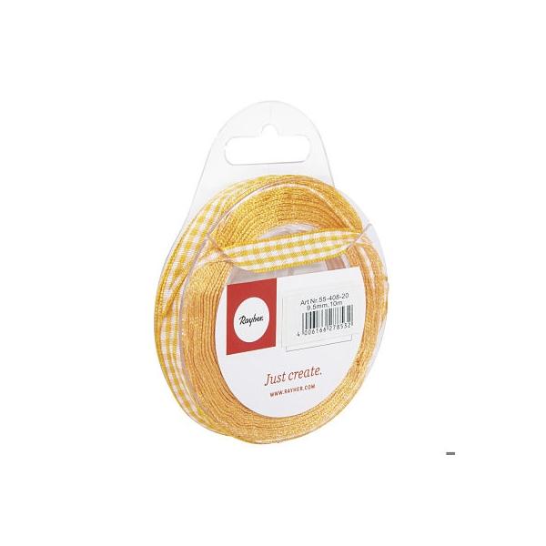 Sárga kockás szalag 9,5 mm 10 m