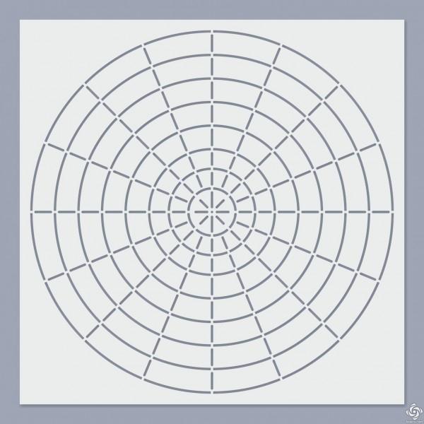 S16 Mandala pontozó stencil