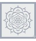 Mandala virág stencil