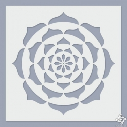 Lotus mandala stencil