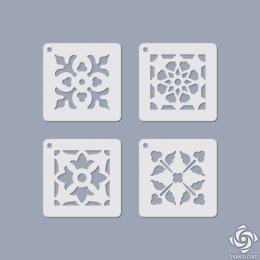 Virágos mini stencil 11