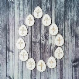 Keresztény húsvéti tojások chipboard karton díszítőelem