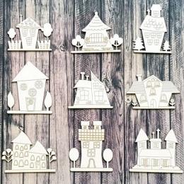 Kertváros chipboard karton díszítőelem