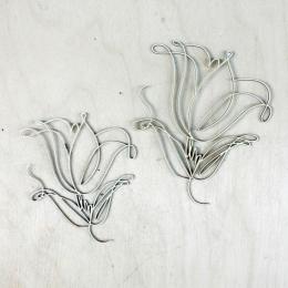 Firkált tulipánok chipboard karton díszítőelem