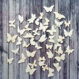 Pillangó felhő chipboard karton díszítőelem