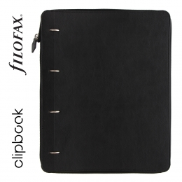 Fekete A4 Zip Filofax Clipbook