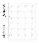 A4 havi naptárbetét dátum nélkül   Filofax Clipbook