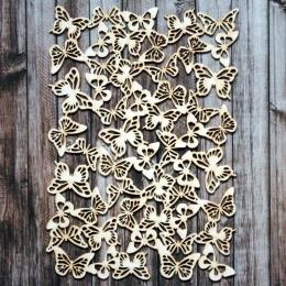Pillangós blackround chipboard karton díszítőelem