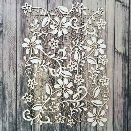 Tavasz csipke blackround chipboard karton díszítőelem