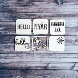 Nyári insta  | chipboard címfelirat