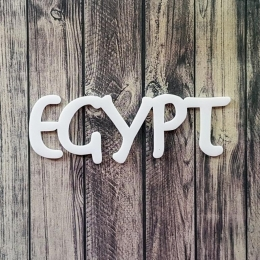 Egypt | chipboard címfelirat