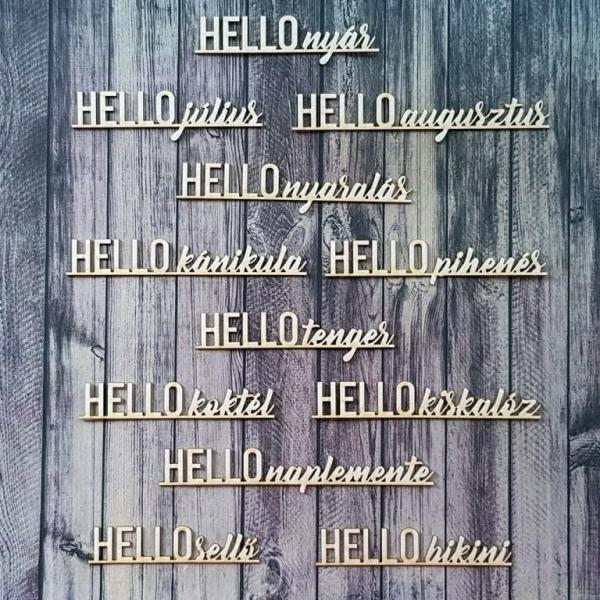 Hello nyár! | chipboard címfelirat csomag