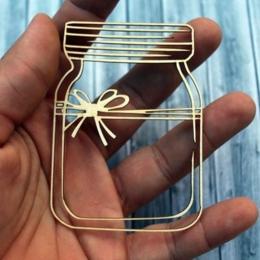 Befőttesüveg chipboard karton díszítőelem