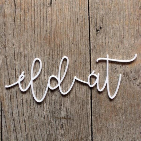 Éld át! | chipboard címfelirat