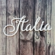 Italia   chipboard címfelirat