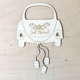 Friss házasok chipboard karton díszítőelem