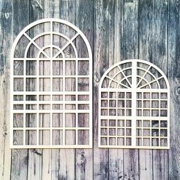 15 és 22 cm-es loft ablak keretek chipboard karton díszítőelem