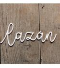 Lazán | akril címfelirat