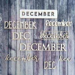 December - maxi| chipboard címfelirat csomag
