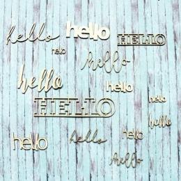 Hello | chipboard címfelirat csomag
