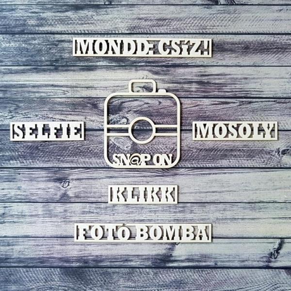 Fotóbomba | chipboard címfelirat csomag
