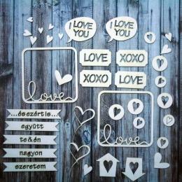 """""""Szeretlek mert,""""... chipboard karton díszítőelem"""