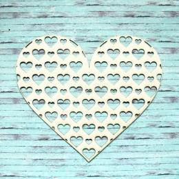 Szíven szív háttér chipboard karton díszítőelem