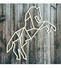 Geometrikus ló chipboard karton díszítőelem