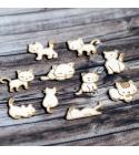 Cicamicák | chipboard karton díszítőelem