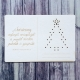 A karácsony varázspálcája képeslap| hímezhető chipboard