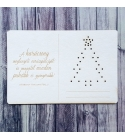 A karácsony varázspálcája | hímezhető chipboard képeslap