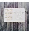 Karácsony | hímezhető chipboard képeslap