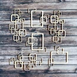 Retro keretek chipboard karton díszítőelem