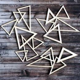 Háromszög sziluettek chipboard karton díszítőelem