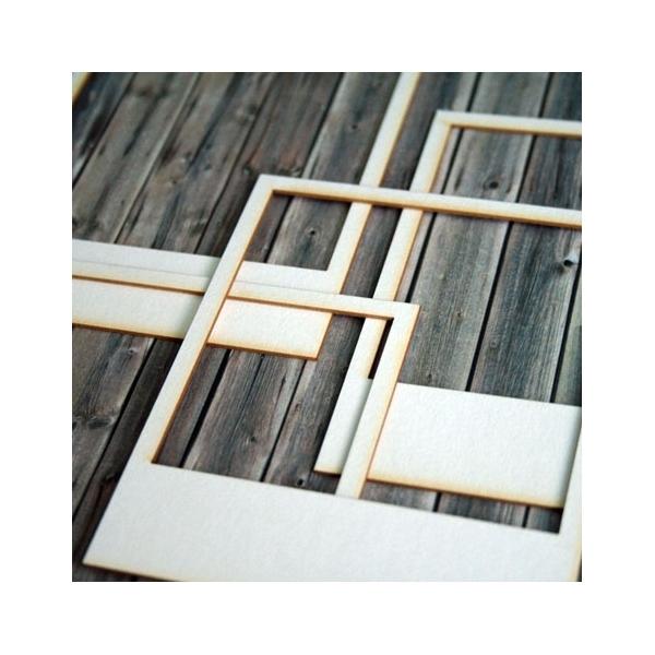 Polaroid keret chipboard karton díszítőelem